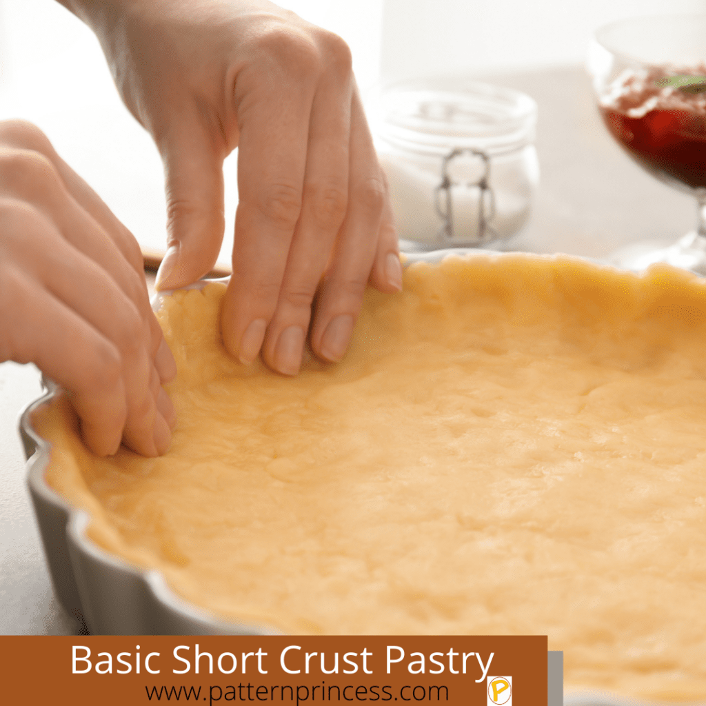 Basic Short Crust Pastry in Tart Pan