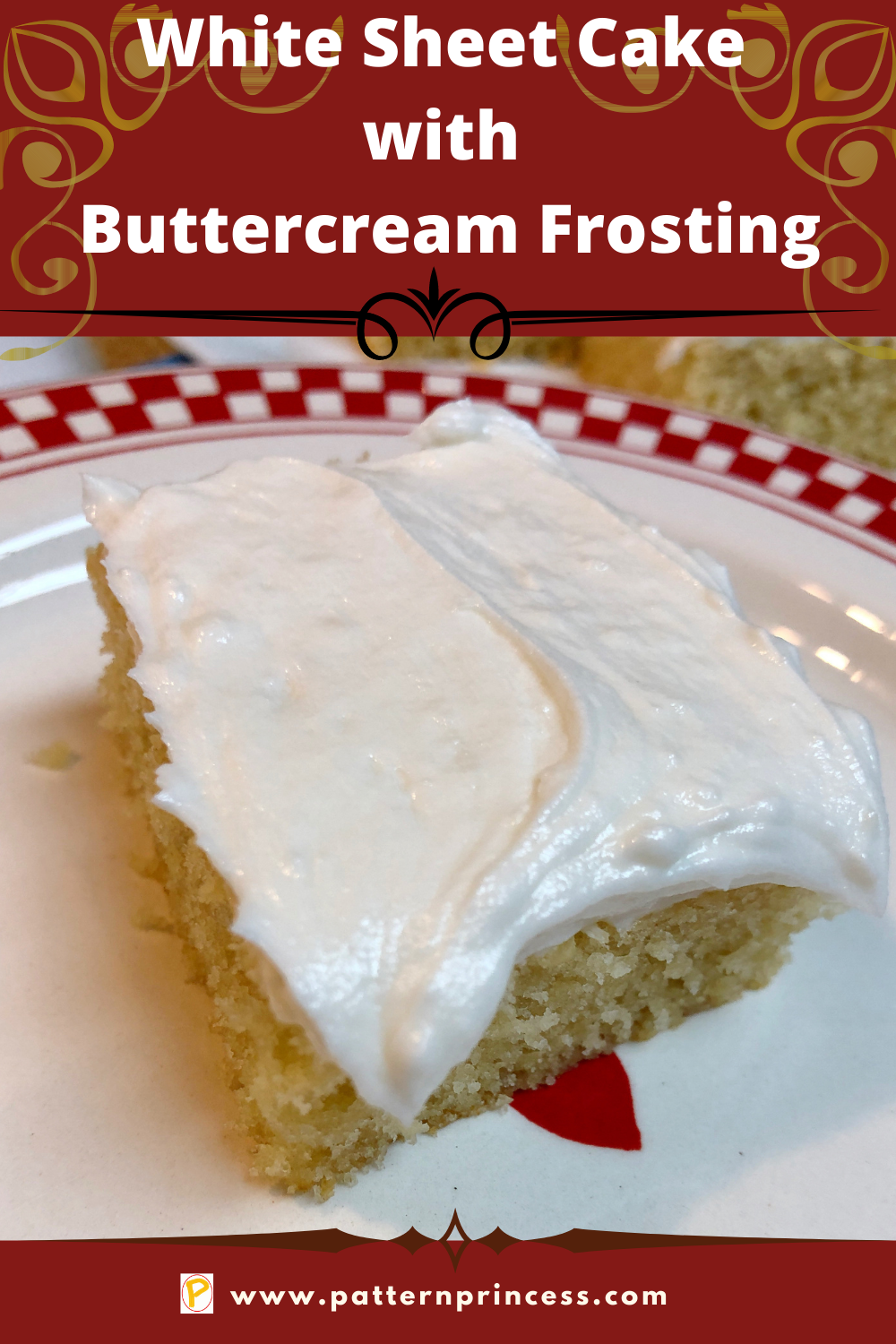 Vanilla Sheet Cake with Buttercream Frosting