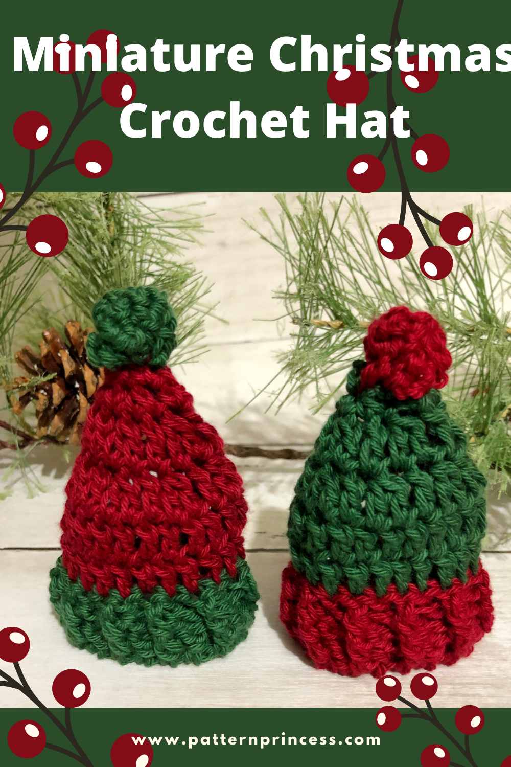 Miniature Christmas Crochet Hat