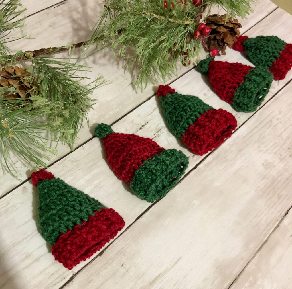 Red and Green Miniature Hats