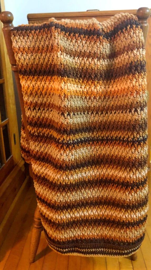 Alpine Stitch Textured Afghan