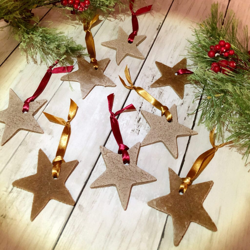 Christmas Cinnamon Ornaments with Ribbon