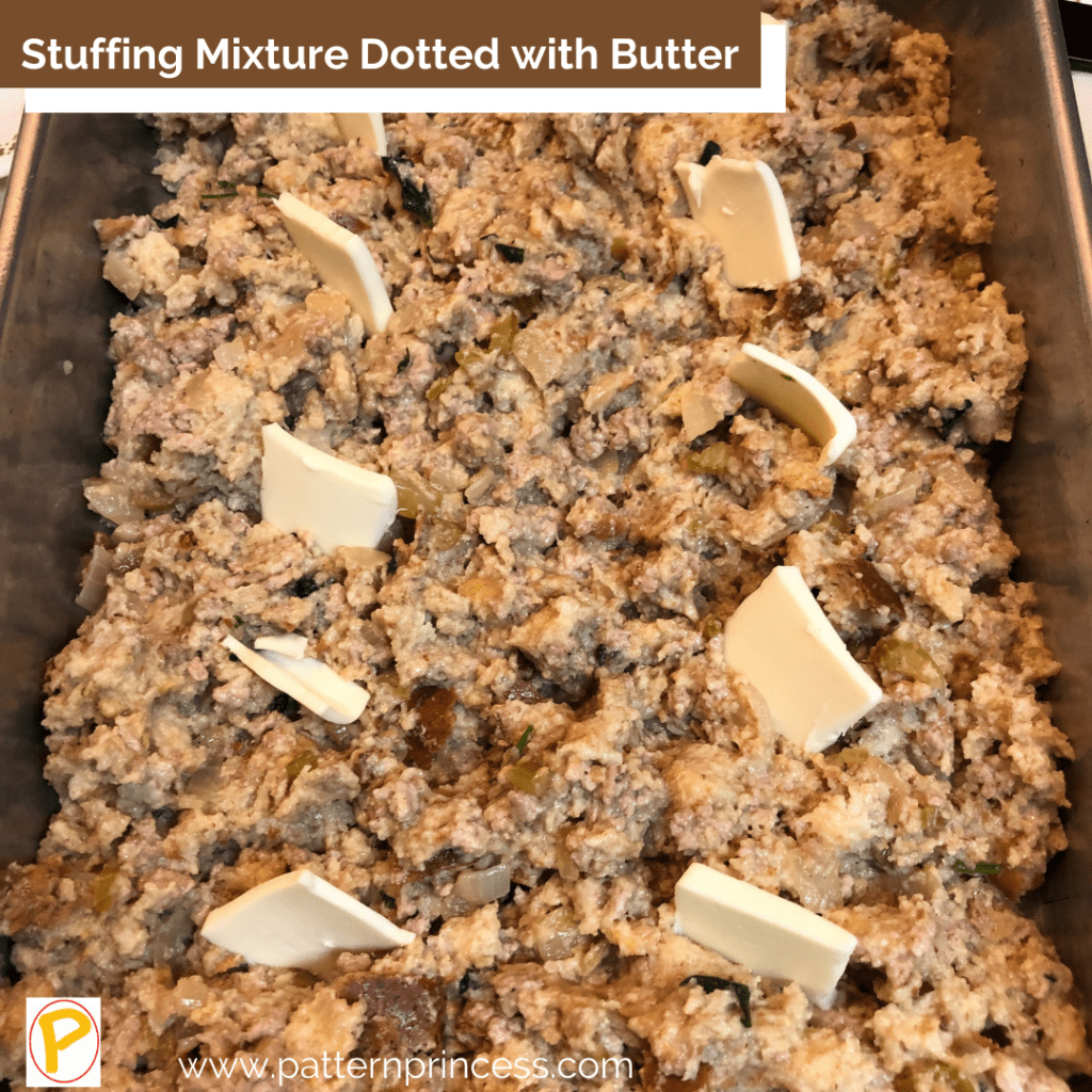 Dressing Mixture Dotted with Butter