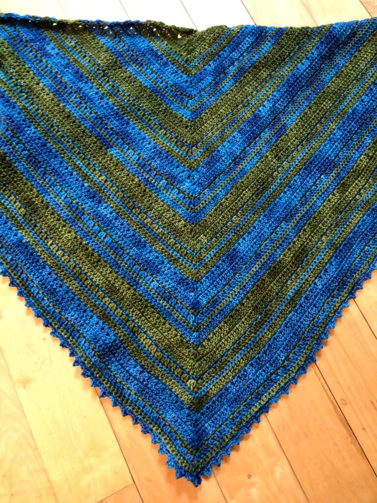 Photo Showing the Whole Shawl Laying Flat