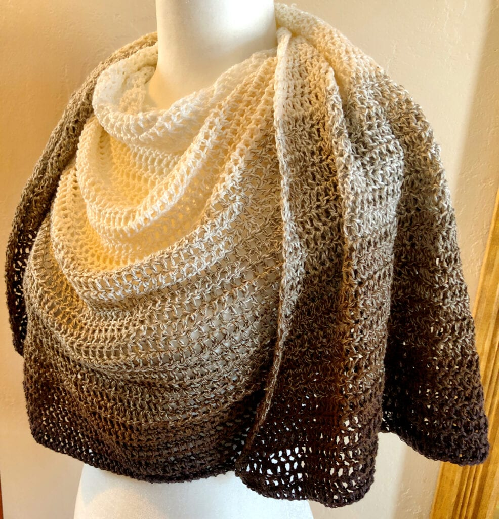 Light and Lacy Crochet Wrap