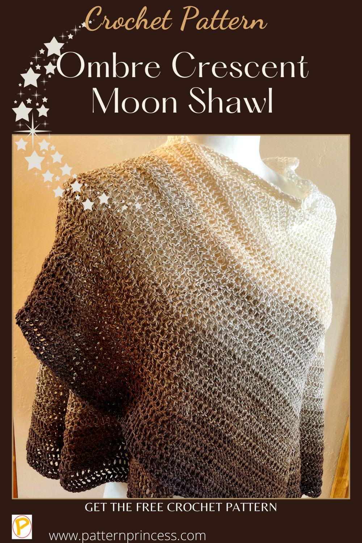 Ombre Crescent Moon Shawl