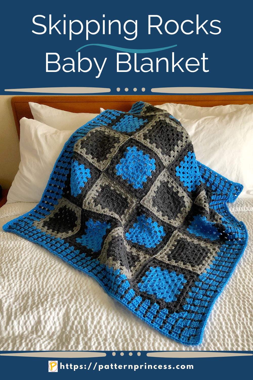 Skipping Rocks Baby Blanket
