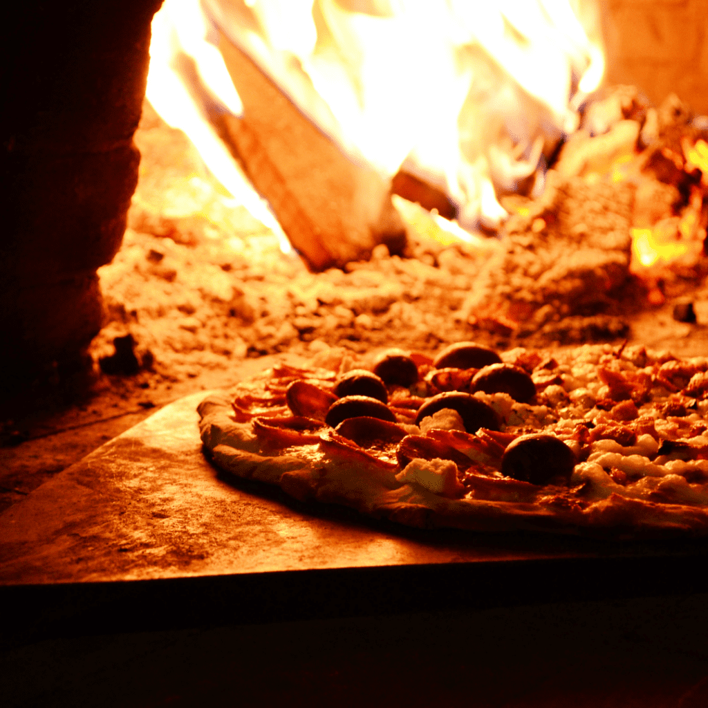 Wood Fired Baking Pizza
