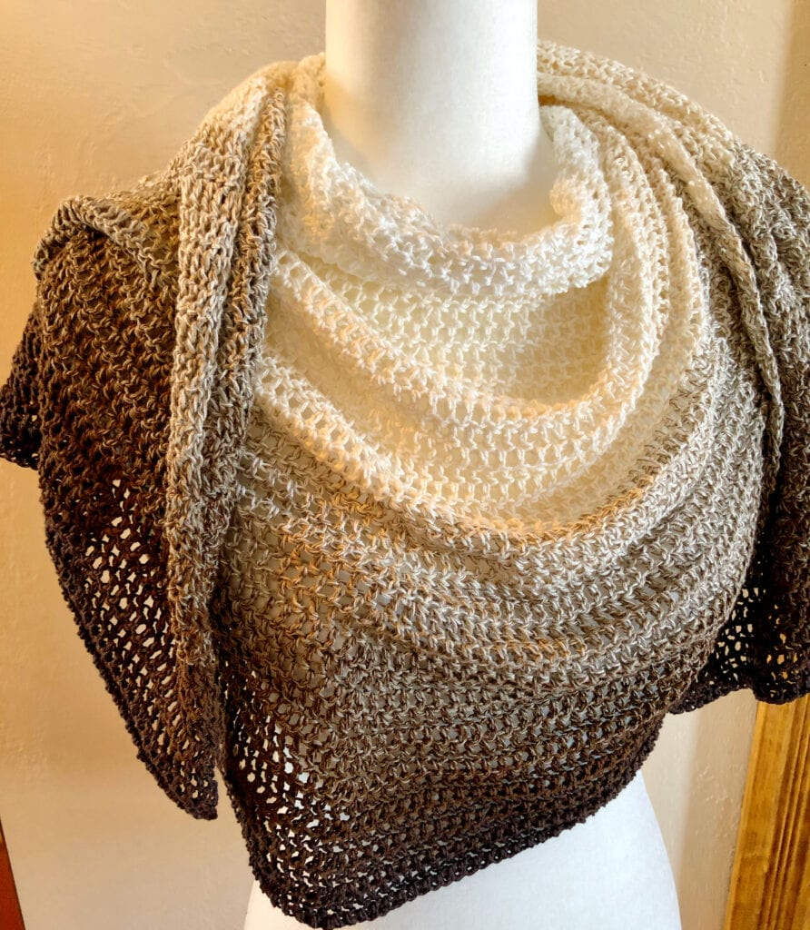 Front View of Crescent Moon Shawl