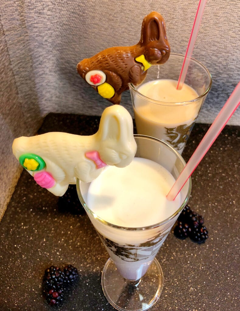 White Chocolate and Milk Chocolate Easter Drink