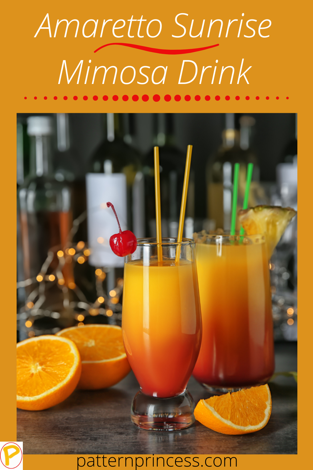 Amaretto Sunrise Mimosa Drink
