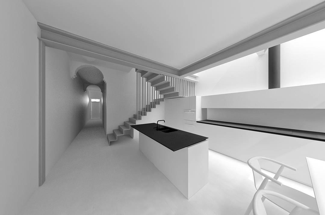 dining & kitchen - render