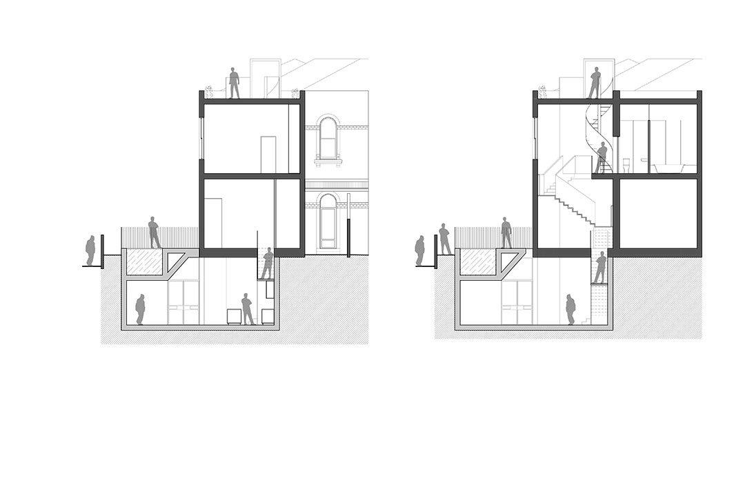 East Melbourne House II - sections 2