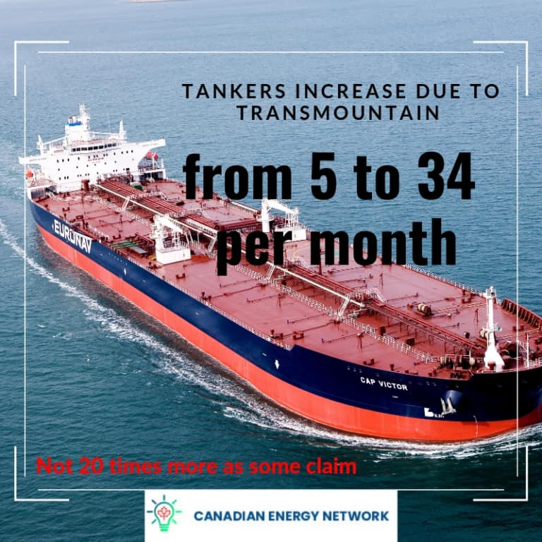 Number of Tankers increased from Trans Mountain