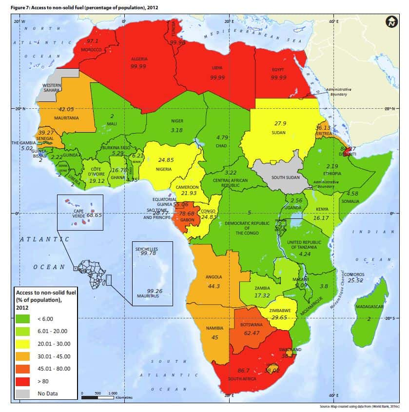 access to non solid fuel Africa