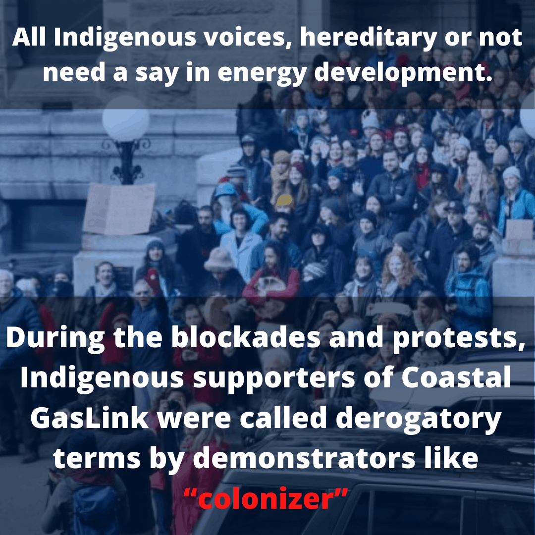 All Indigenous voices, hereditary or not need a say in energy development.