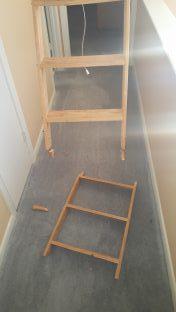 Broken attic stairs