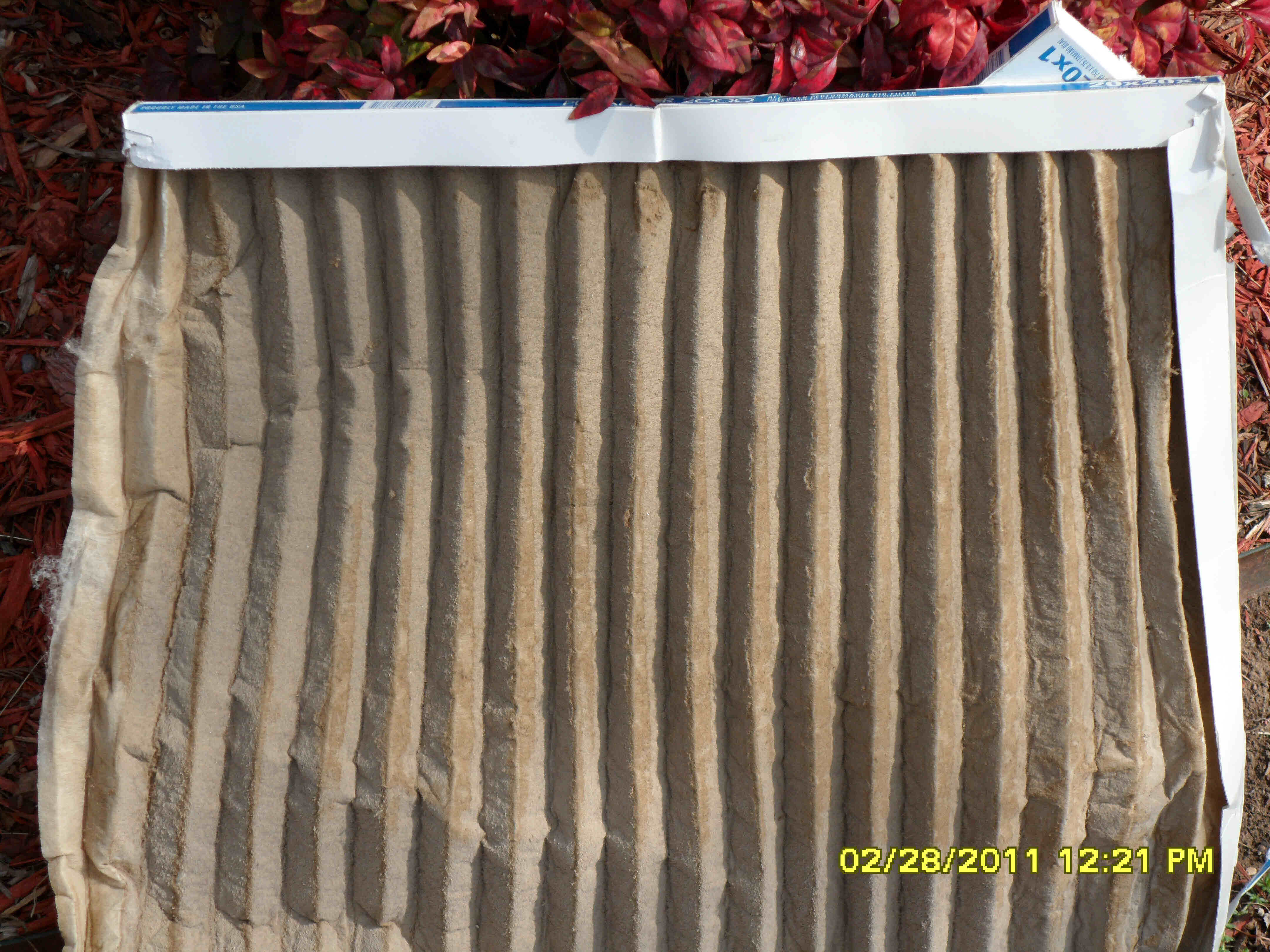 Clogged Air Conditioning and Heating Air Filter