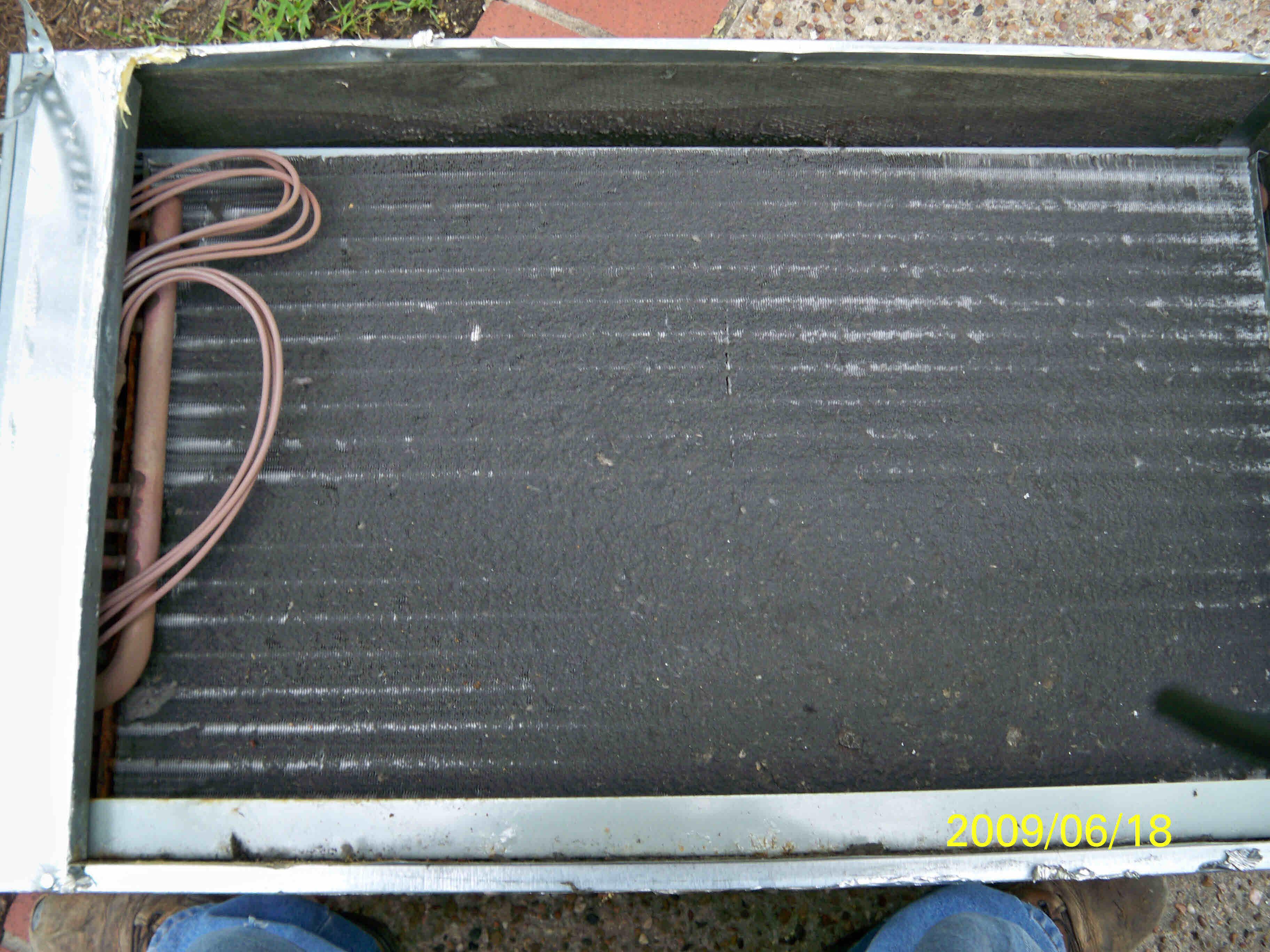 photo Dirty Evaporator Coil