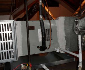 Our attic installation of a Trane Evaporator Coil