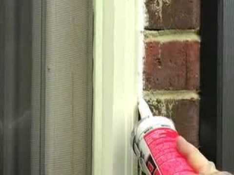 Caulk window to cut down on drafts and save on your utility bills.