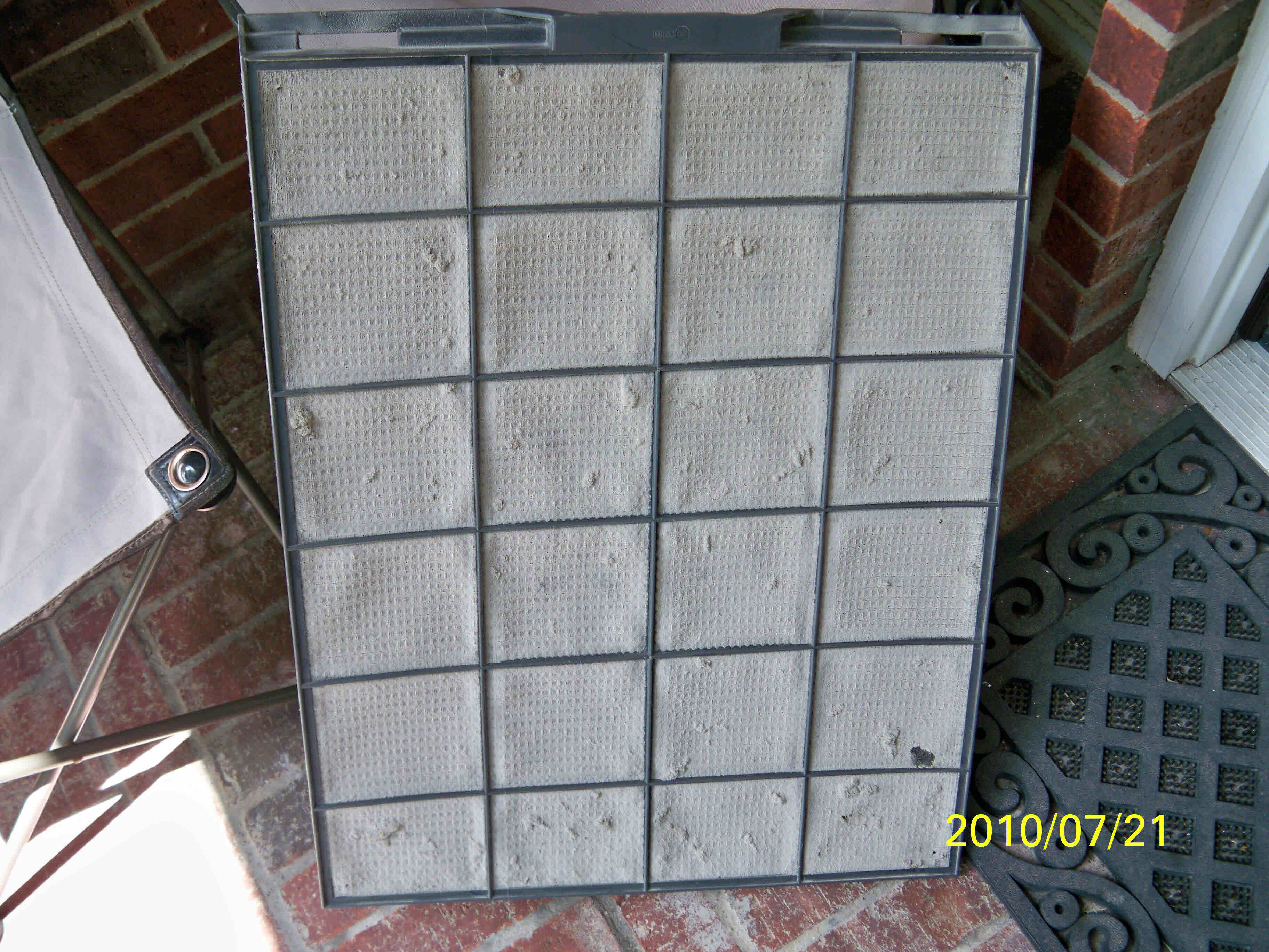 Completely Clogged Permanent Air Filter
