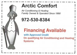 Arctic Comfort Air Conditioning & Heating. Air Conditioning and Heating Equipment Systems Replacement Installation Coupon Financing Available