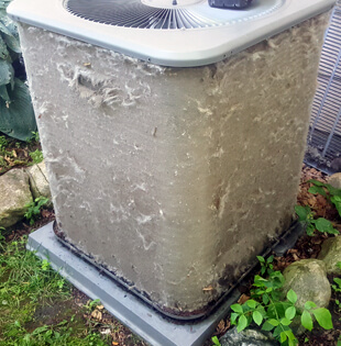 Completely Clogged Condenser Coil