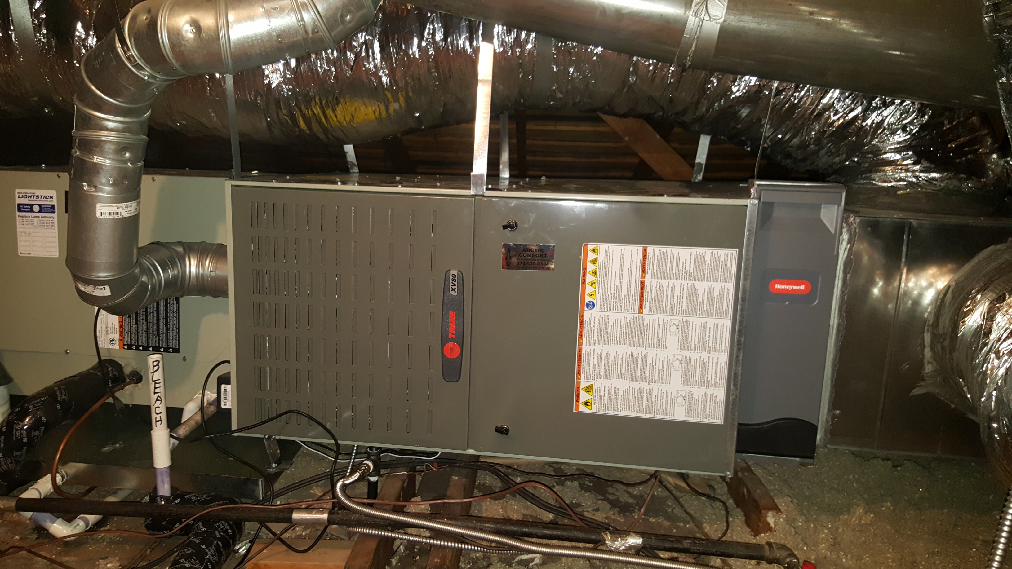 Trane Furnace and Honeywell Media Filter System