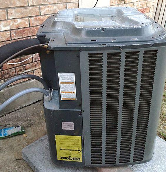 HVAC Hack Condenser installed upside down