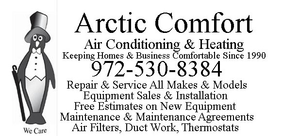 Arctic Comfort Air Conditioning and Heating Plain Header
