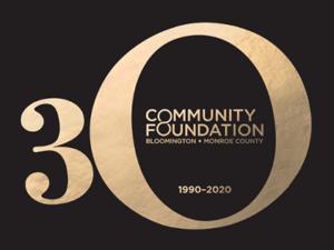 Community Foundation's 30 year anniversary logo