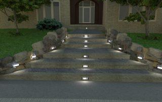 concrete walkway steps