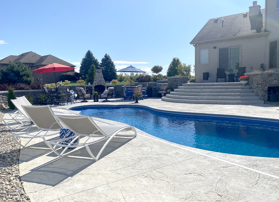 pool deck hardscape design