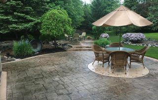 stamped concrete patio fort wayne