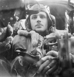 The Royal Air Force: The rear gunner in his position in a Wellington bomber. © IWM (D 4736)