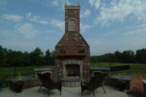 outdoor fireplace, firepit, deck addition, patio addition