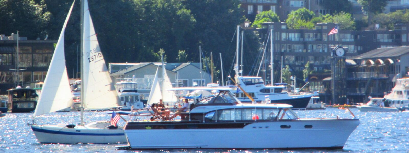 Seattle Easter Boat Parade, Yachts, Powerboats, Sailboats, Commercial Fishing, Kayaks, Tenders, Salty Dog Boating
