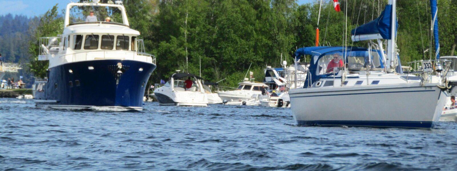 Seattle Easter Boat Parade, Seattle WA, NW Marinas, New Boats, Sailboats, Skiff life, Salty Dog Boating
