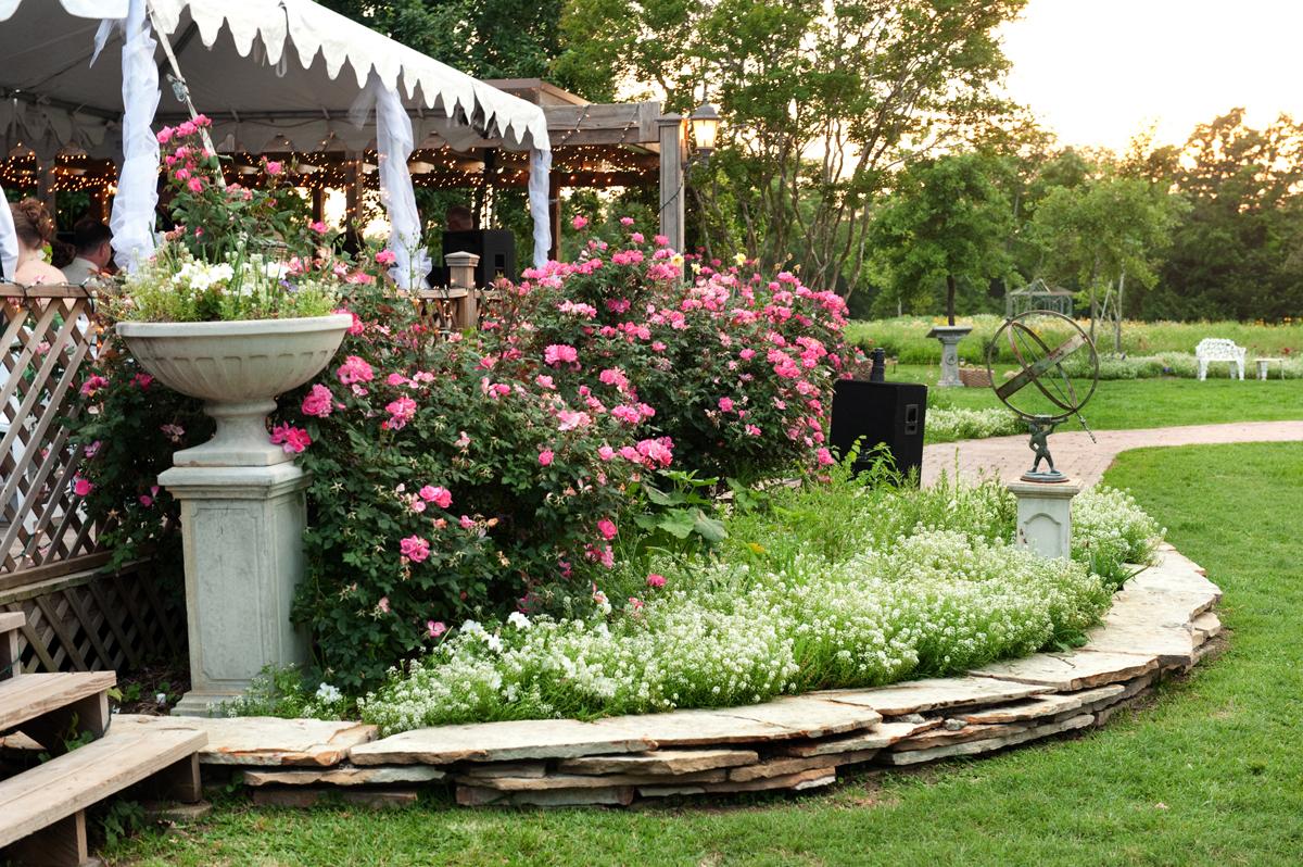 romantic garden reception wedding texas