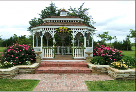 gorgeous gazebo outdoor wedding ceremony