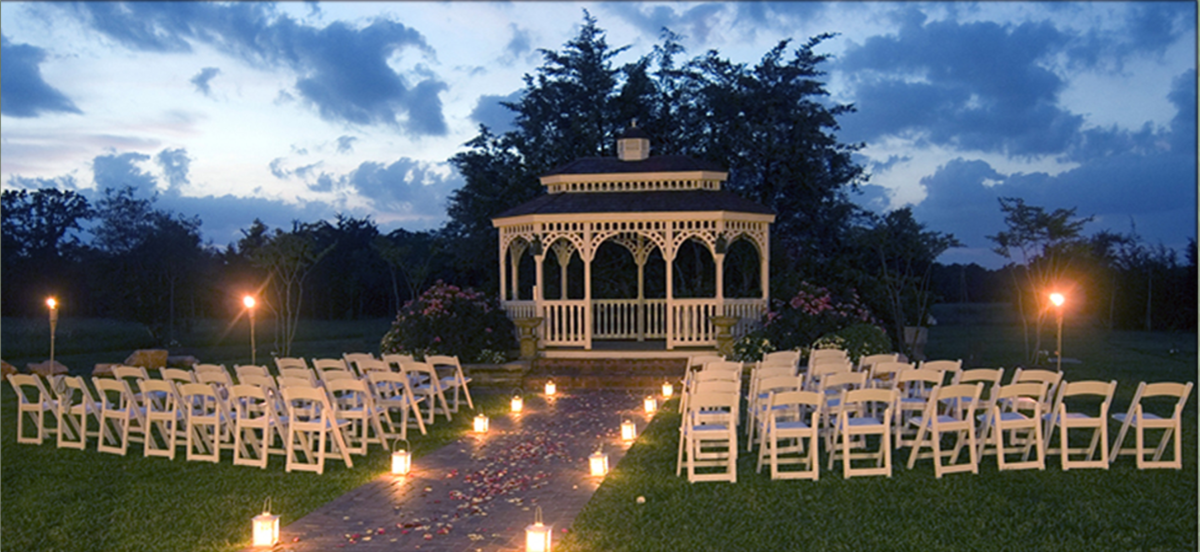 evening wedding ceremony outdoor