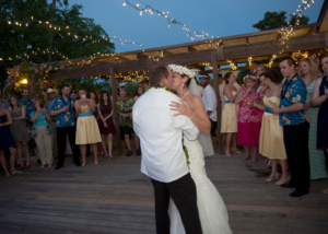 Outdoor Wedding Reception Night time Romantic Farmhouse Venue