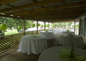Patio Farmhouse Wedding Reception Destination DIY Decor