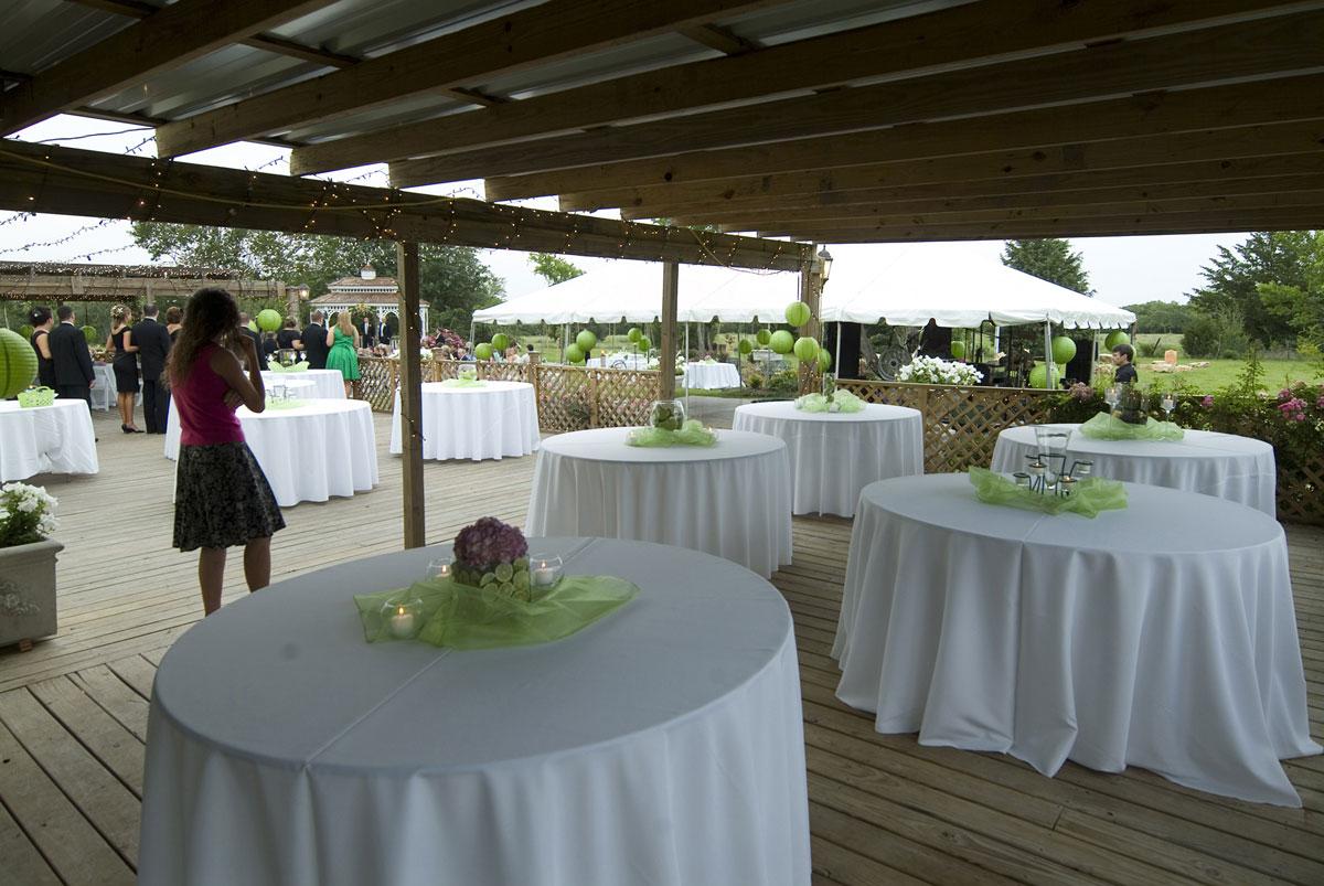 Outdoor Texas Farmhouse Wedding Reception