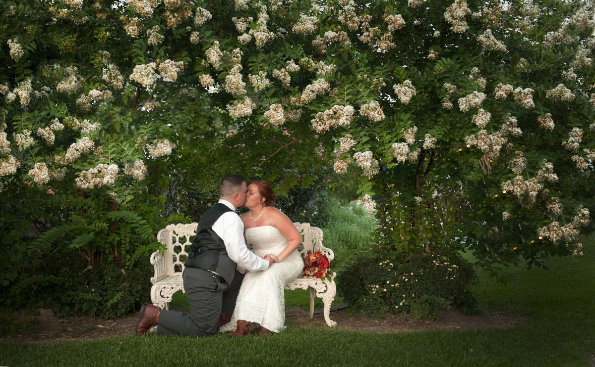 Stunning Local Garden Wedding Couple Photographs