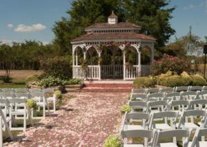 Blossoming Wedding Garden Ceremony