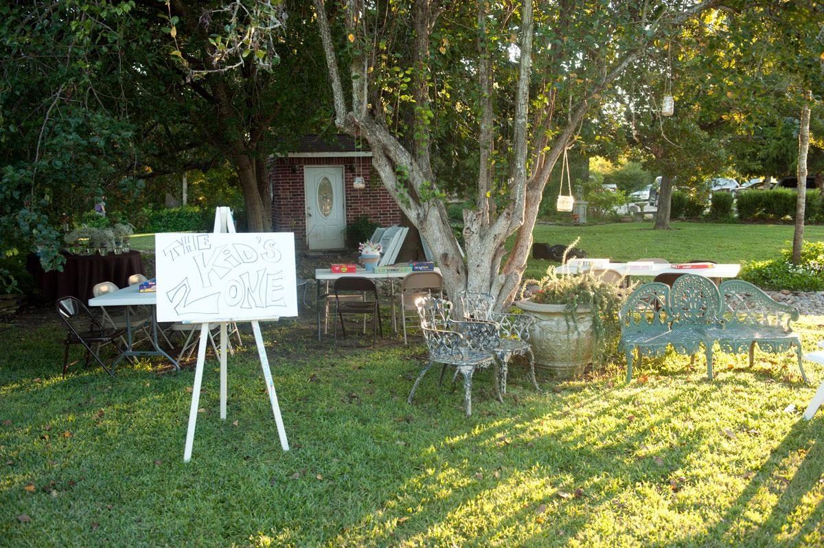 Unique Garden Wedding Reception Local