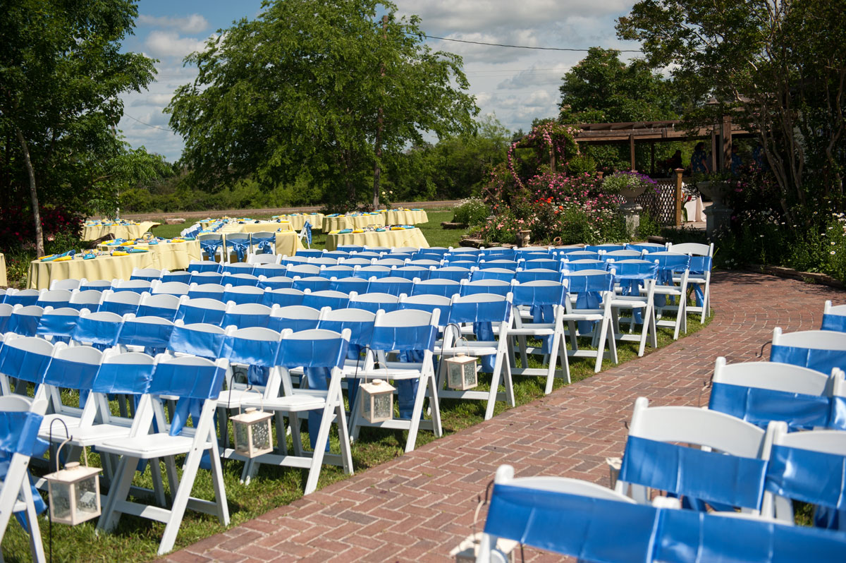 Colorful Wedding Ceremony Garden Ideas