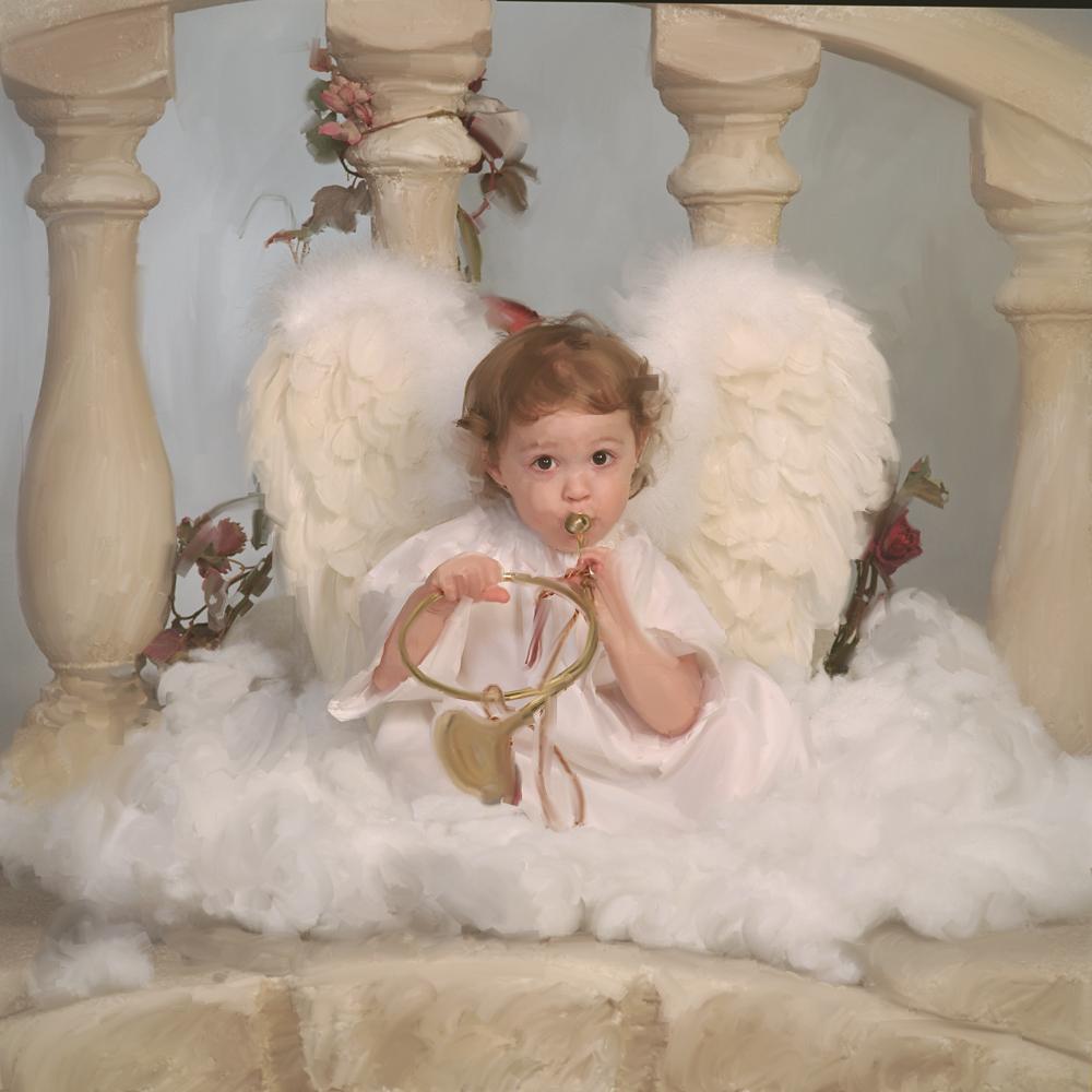 children theme angel portrait